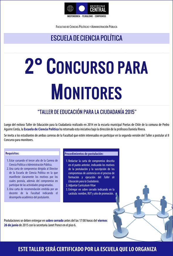 """2° concurso para monitores """"Taller de Educación para la Ciudadanía ..."""